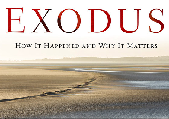 The Exodus (book cover detail, remixed)