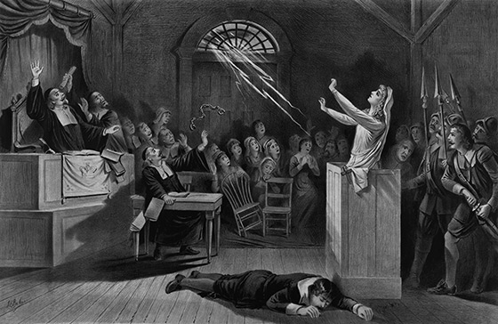 Salem Witch Trials as depicted by Joseph Baker in 1892