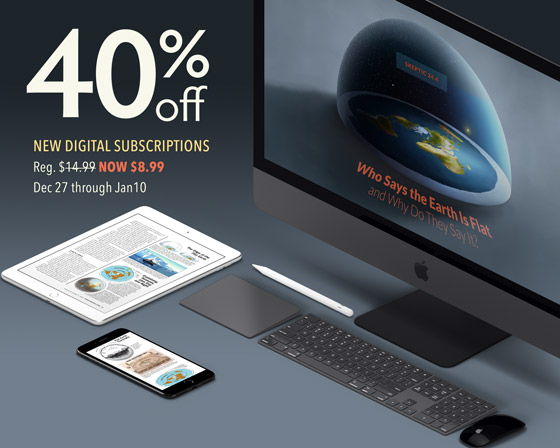 Save 40% on new digital subscriptions to Skeptic magazine at PocketMags.com Dec 27, 2019 through January 10, 2020