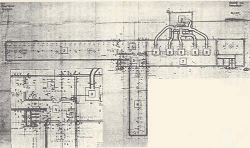 Blueprint of Crematoria II.