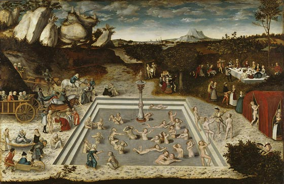 The Fountain of Youth, 1546 painting by Lucas Cranach the Elder [https://en.wikipedia.org/wiki/The_Fountain_of_Youth_(Cranach)]