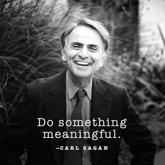 Carl Sagan | Do something meaningful.