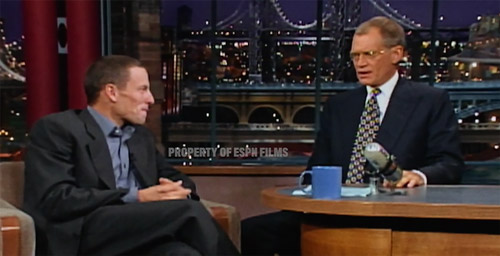 Lance Armstrong and David Letterman