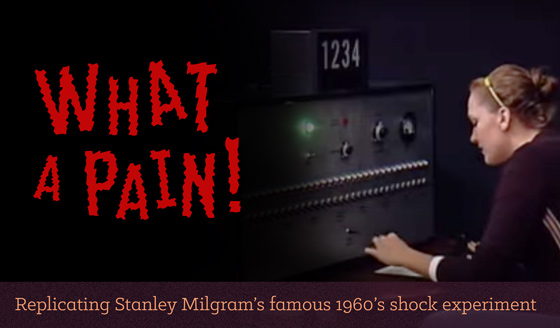 What a Pain! Replicating Stanley Migrim's famous 1960's shock experiment
