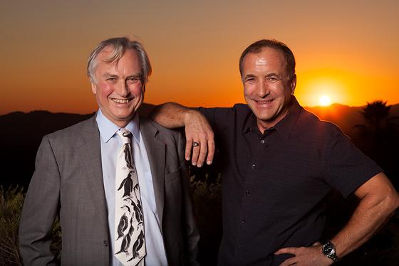 Richard Dawkins (left) and Michael Shermer (right)