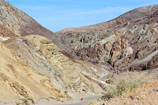 Calico gets its name from its colorful rocks, a product of earthquake faulting, folded sedimentary layers and igneous intrusions. 500 silver mines dot the area. (Photo by David Patton)