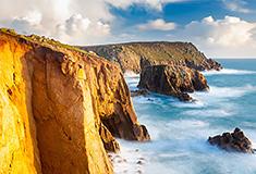 Cliffs at Lands End, Cornwall