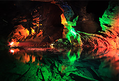 Llechwedd Caverns, illuminated