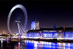 London Eye Ferris Wheel on the River Thames