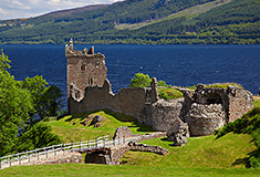 Ruins of Urquhart Castle near Loch Ness
