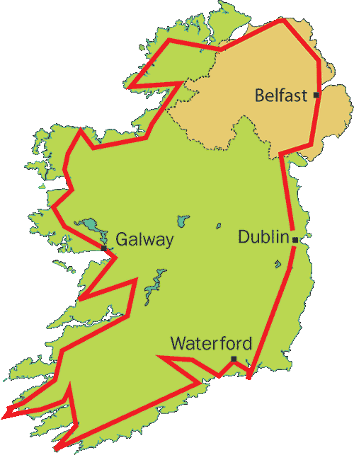 Irish Geology Tour Map