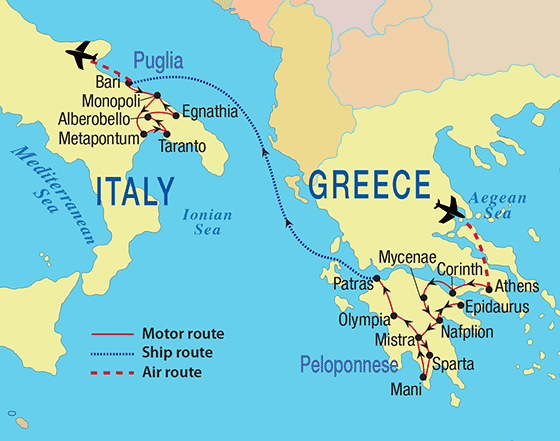 Tour Route Map