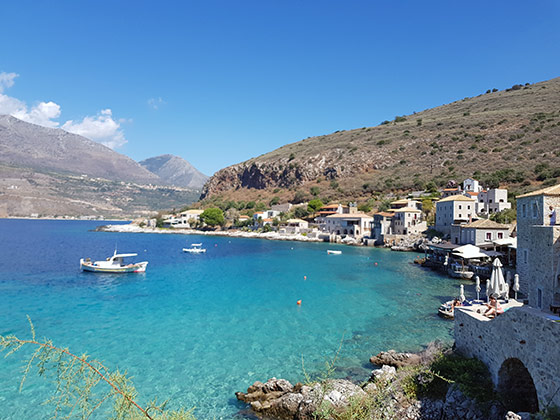 The seaside village of Limeni, Mani, Peloponnese, Greece