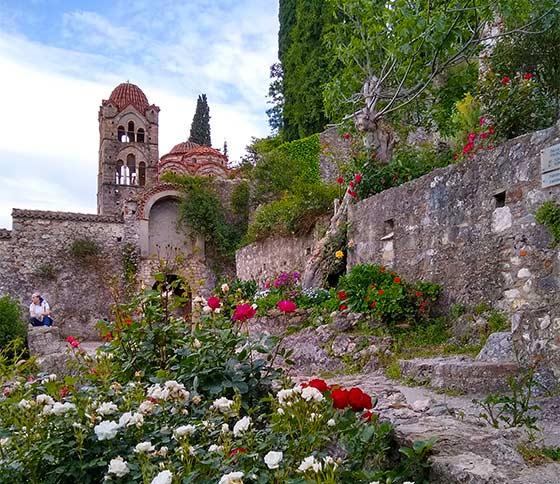 In medieval Mistra, Peloponnese, Greece