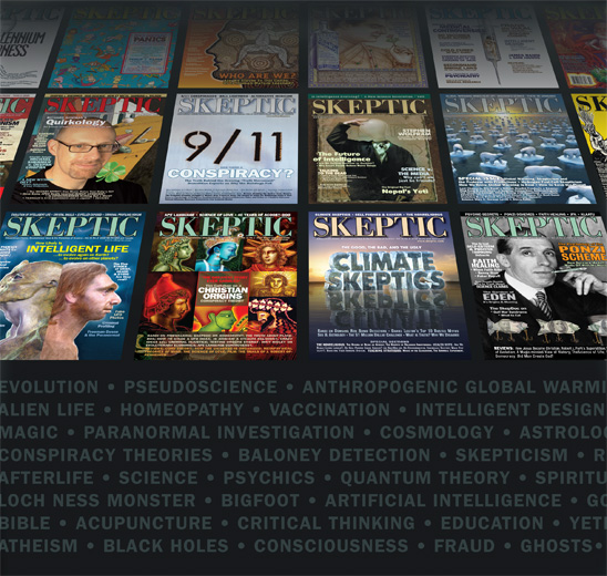 a selection of Skeptic magazine back issues