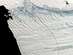 Pine Island Glacier (Image Credit: NASA/GSFC/METI/ERSDAC/JAROS, and U.S./Japan ASTER Science Team; http://www.nasa.gov/multimedia/imagegallery/image_feature_2165.html)