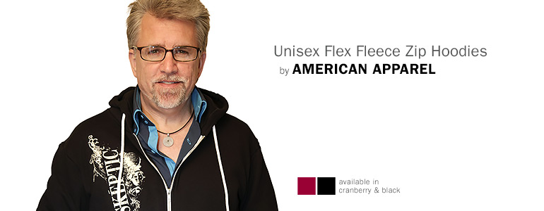 Unisex Flex Fleece Zip Hoodies by AMERICAN APPAREL