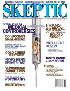 Skeptic magazine vol. 13 no. 3 (detail of cover)