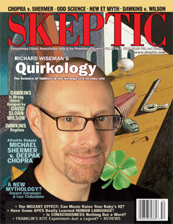 Skeptic magazine Volume 13 Number 4 (cover)