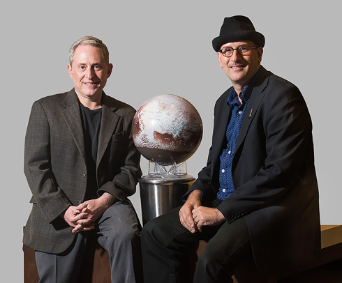 Alan Stern and David Grinspoon (photo by Henry Throop)