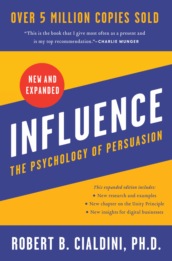 Influence: The Psychology of Persuasion (book cover)