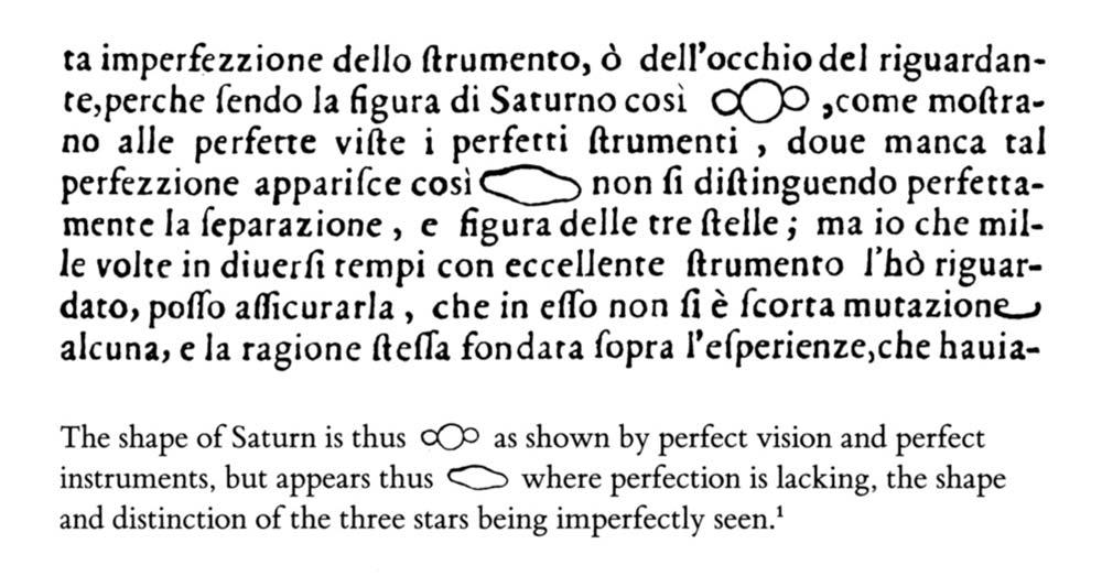 Galileos Saturn Evidence, Image, Drawing, Graphic, Word, Noun