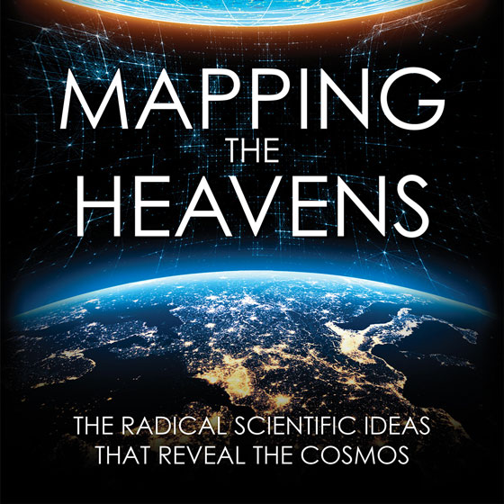 Mapping the Heavens: The Radical Scientific Ideas That Reveal The Cosmos (cover detail of book by Dr. Priyamvada Natarajan)