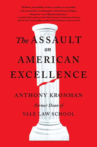 The Assault on American Excellence (book cover)
