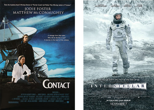 Contact and Interstellar (posters)