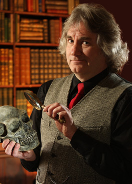 Brian Regal with skull