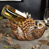 Drunken Owl Wine Bottle Holder (image used by permission of Rodney Brazil at HomeWetBar.com)