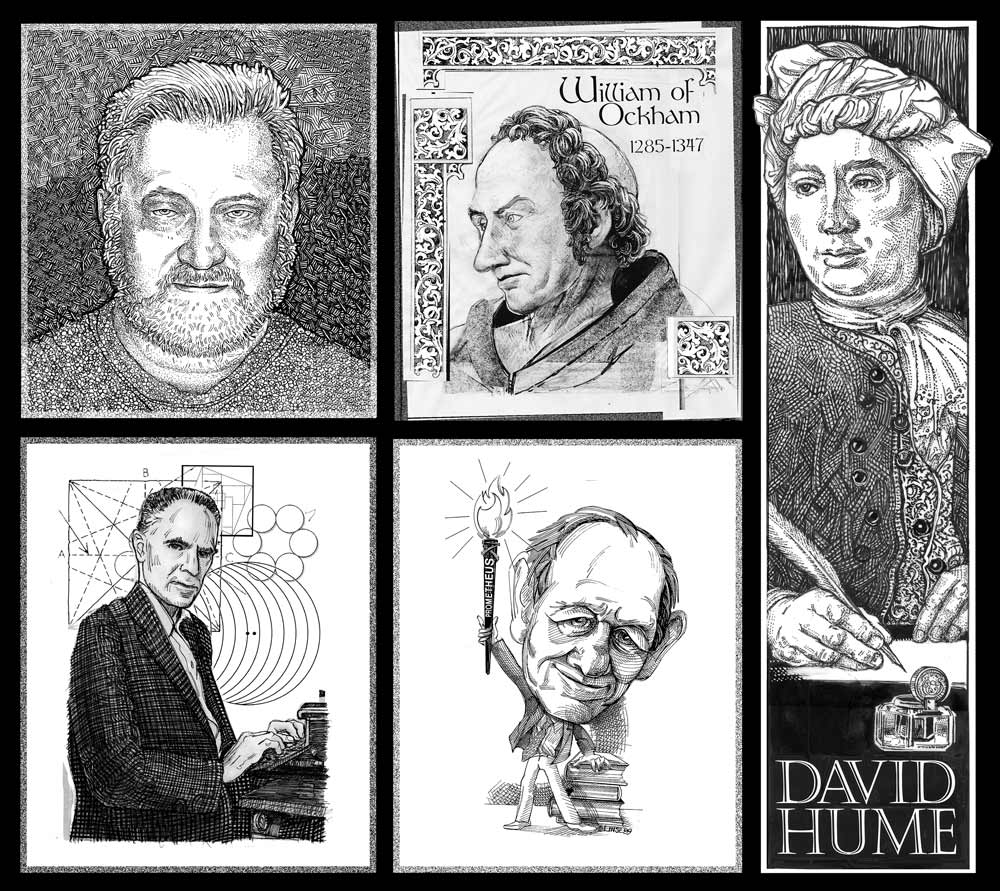 Skeptic Activists and Heros ilustrated by Pat Linse