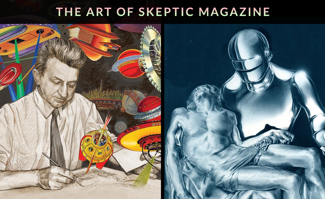 The Art of Skeptic Magazine (two covers by Pat Linse)