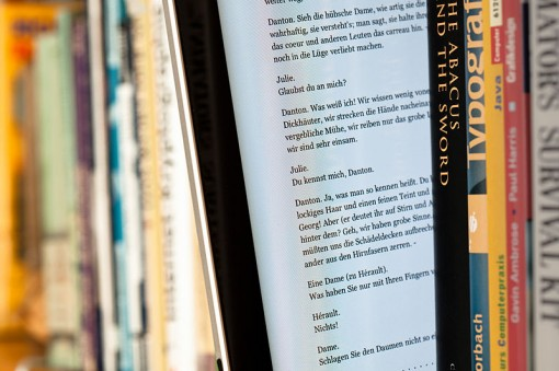 eBooks may be popular, but they are not going to replace paper books any time soon. (Image courtesy Wikimedia Commons).