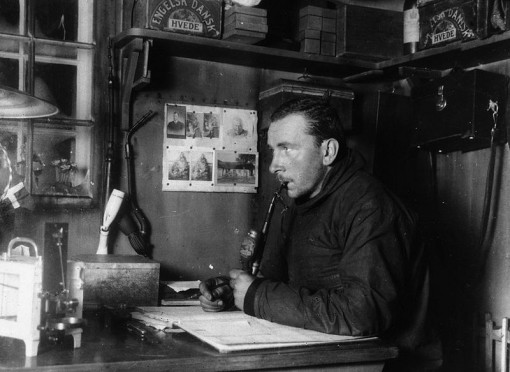 Wegener on his fatal final expedition to Greenland, 1930. (Courtesy WIkimedia Commons).