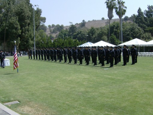 DeLeon's class graduating from the academy in 2007