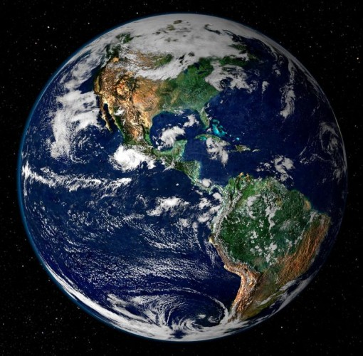 "Earth, the ""pale blue dot"", the tiny green planet in a vast cosmos. It is our only home, and if we foul it, we will never get another chance. (Image courtesy NASA)."
