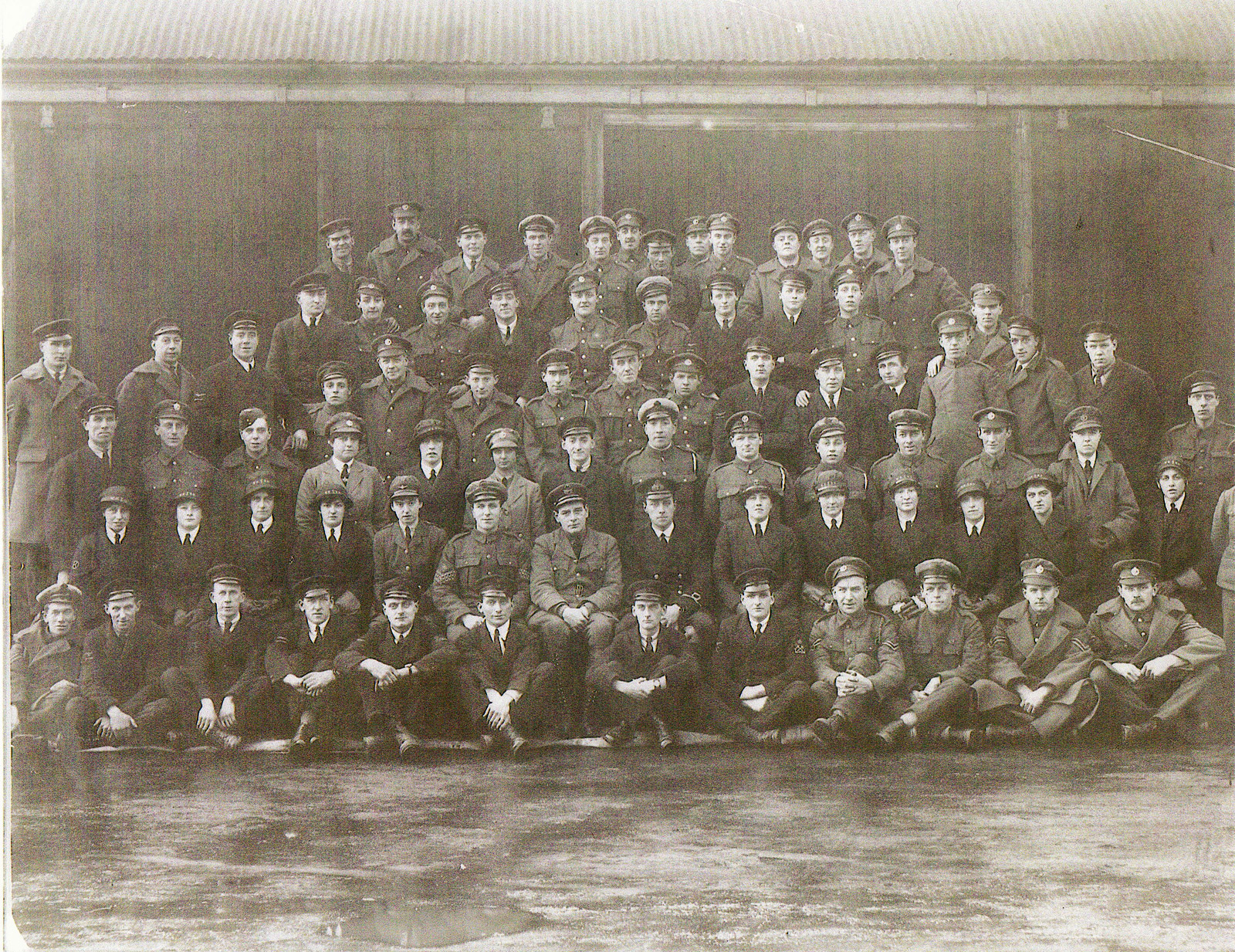Photo of squadron allegedly including the ghost of Freddy Jackson.