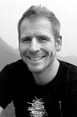 Jason Loxton in China during a 2010 research trip.