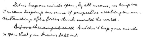 Kotschnig speech manuscript showing edit