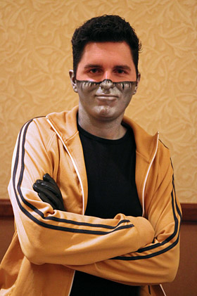 """Captain Disillusion"" (sometimes known by his alter ego Alan Melikdjanian)."
