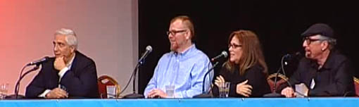 Panel discussion on stage