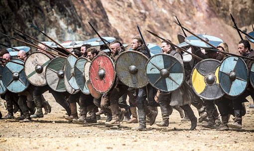 Ragnar's army charges into battle