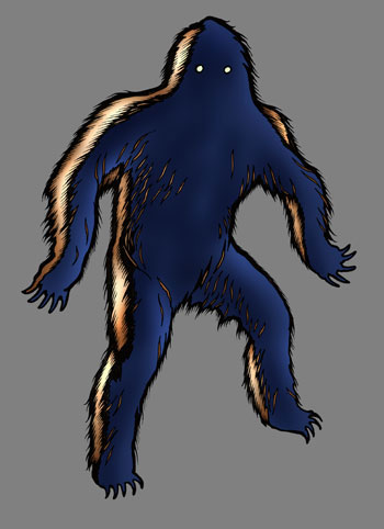 Image of silhouette of yeti-like creature