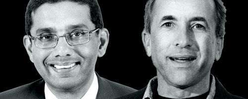 Dinesh D'Souza and Michael Shermer