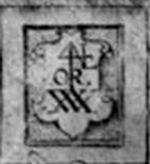 """Sign of Four"" merchant's mark from title page of Gerard's Herball"